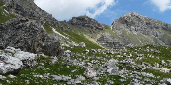 Die Innere Wildgrube  mit dem Kreuzjöchl.