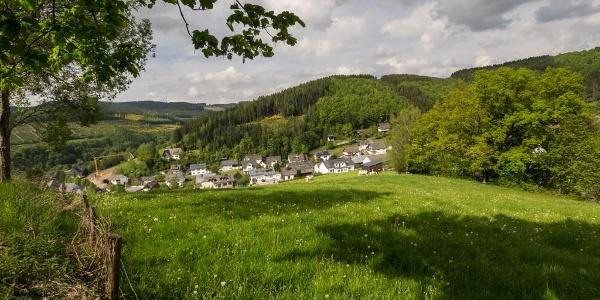 Blick auf Lenne im Schmallenberger Sauerland