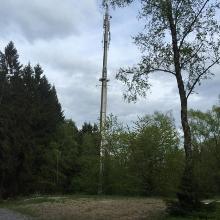 Der Mast auf dem Baumberg