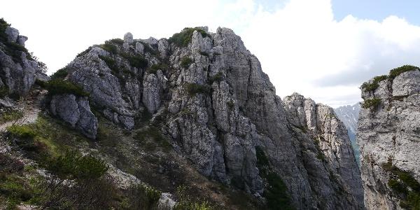 Aufstieg zum Monte Cornetto