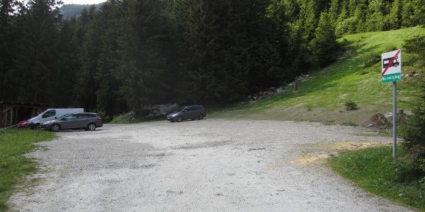 Wanderparkplatz beim Gasthof Bärenbad