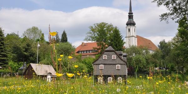 Der Umgebindehaus-Park in Cundewalde