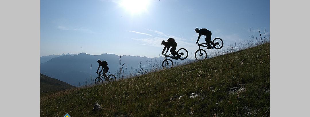 Mountainbiken in schöner Umgebung