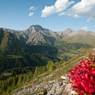 Blick ins Val Sinestra über Zuort