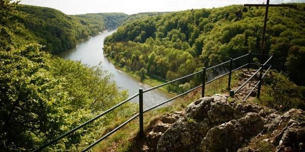 Blick in den Donaudurchbruch