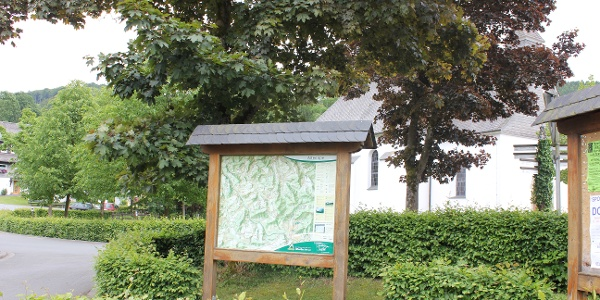 Die Wandertafel in Altenilpe