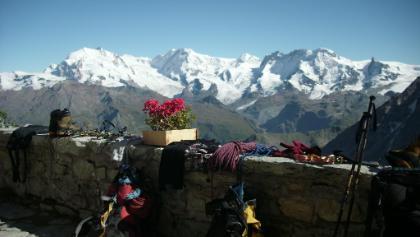 Blick vo der Monte Rosa Gruppe bis zum Kleinen Matterhorn