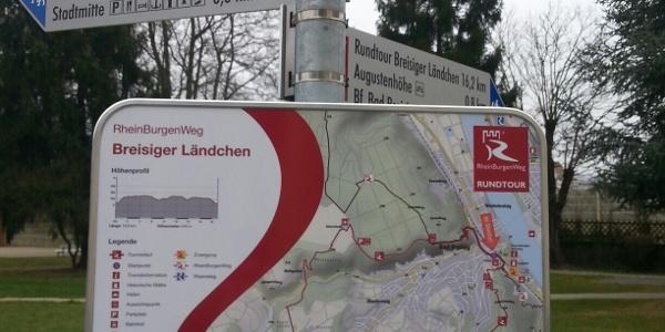 Wandertafel vor Römer-Thermen Bad Breisig