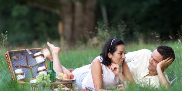 Picknick bei der Eiche