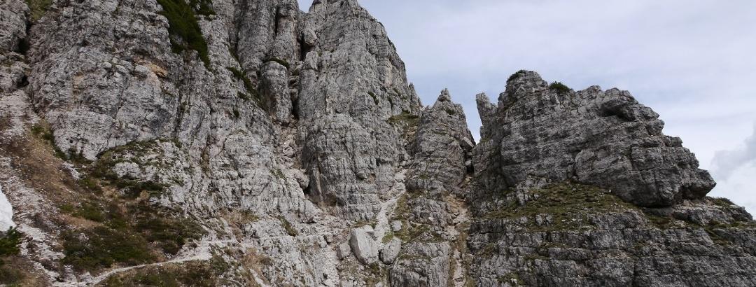 Der Höhenweg Sentiero Alto del Fumante