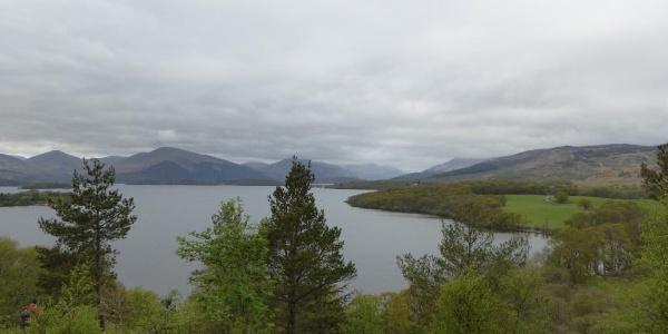 Blick von Craigie Fort auf den Loch Lomond