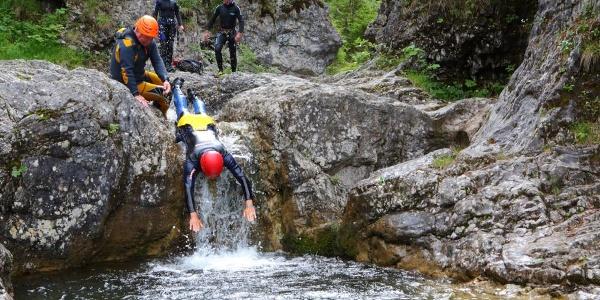 Canyoning Stuibenfälle - Rutsche