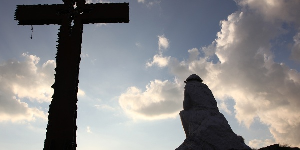Cristo Pensante am Abend