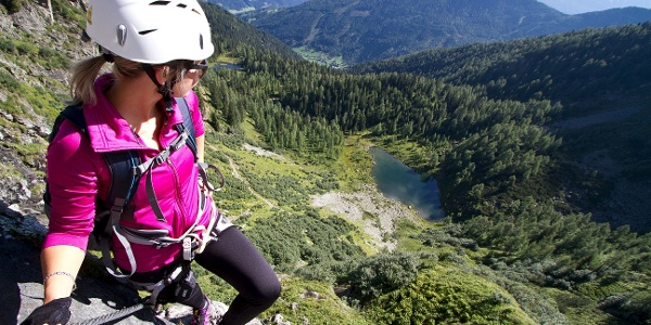 Marvellous view from the ferrata to Untersee Lake.