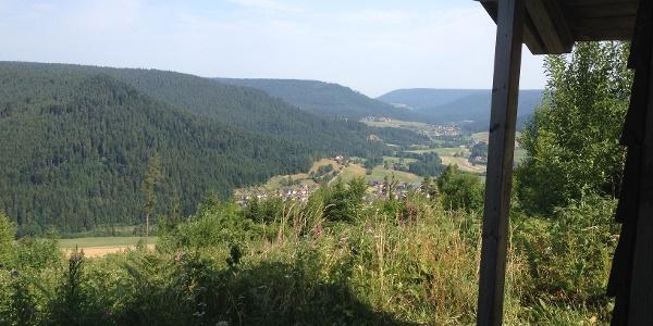 Blick in Murgtal von der Zimmerplatzhütte
