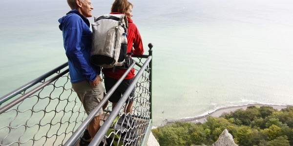 Wanderer auf der Viktoria-Sicht