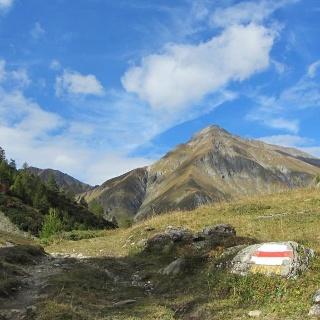 Blick vom Val Chöglias zum Piz Chöglias