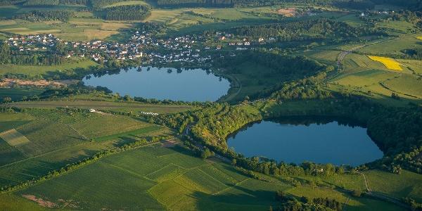 Das Schalkenmehrener und Weinfelder Maar