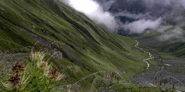 Abstieg von der Kaunergrathütte ins Pitztal