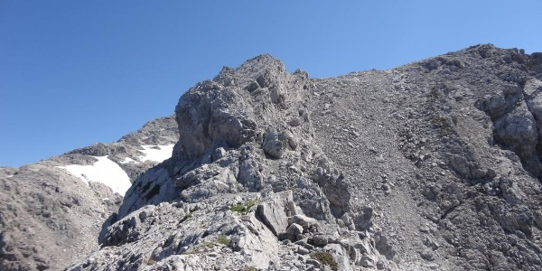 Am Aufstieg zur Braunarlspitze