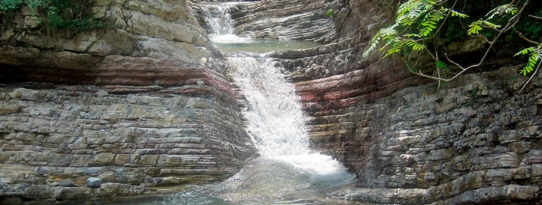 Wasserbecken in der Garnitzenklamm