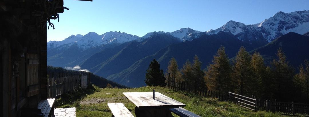 Panoramablick in das Ahrntal