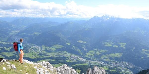 Das Große Fieberhorn bietet freie Aussicht übers Salzachtal