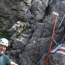 Einstieg zum walser klettersteig
