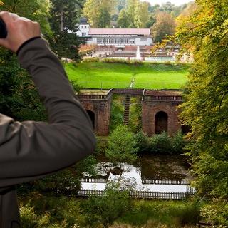 Blick vom Trompetenhügel auf das barocke Gartendenkmal Tschifflick