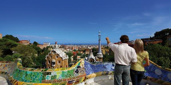 Barcelona - Blick über die Stadt vom Park Güell aus