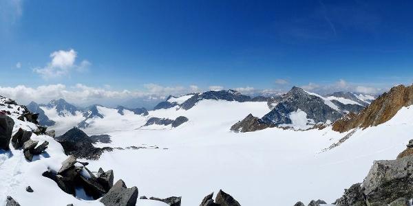 Gipfelpanorma Wilder Freiger