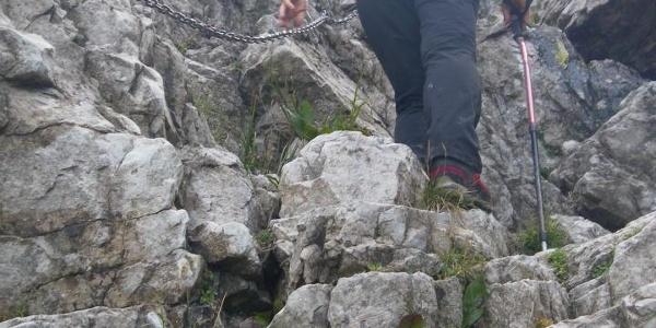 Einstieg in den Canalone Bobbio