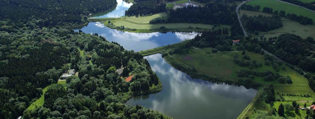 Teichkaskade der Oberharzer Wasserwirtschaft bei Clausthal-Zellerfeld