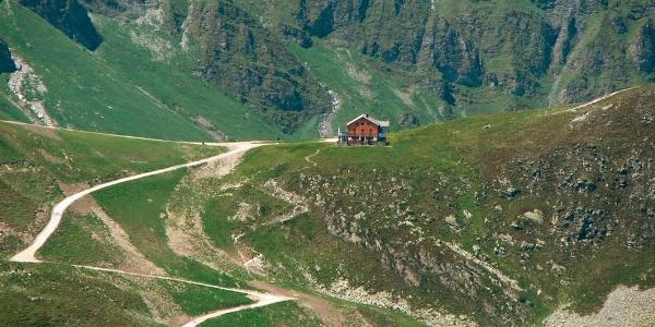 Blick auf das Tuxer-Joch-Haus