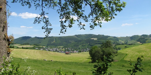 Blick in die Ferienregion Eslohe