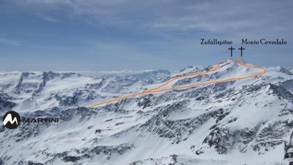 Monte Cevedale - Topo Skitour