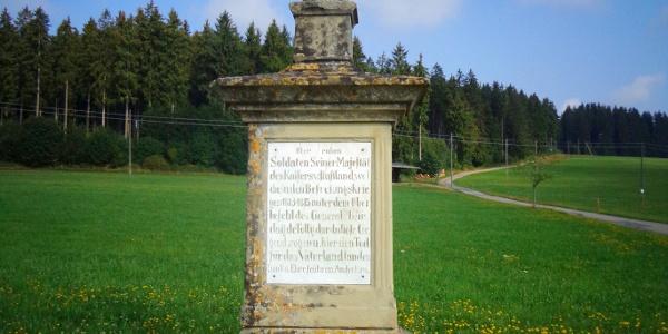 Russenkreuz auf der Hochebene Schwärzenbach