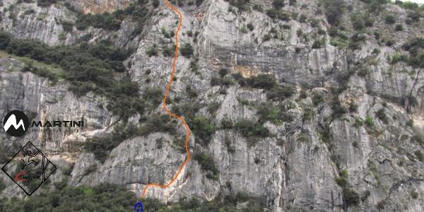 Routenverlauf Aphrodite in Wandbild - Parete san Paolo
