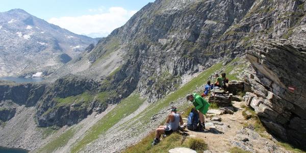 Blick von der Schmalzscharte (2444m) Richtung Muritzenscharte