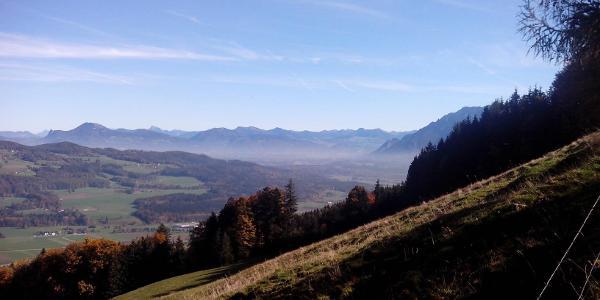 Blick von Fürmannalm Richtung Grenze nach Österreich