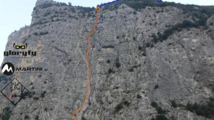 Moon Bears Topo - Übersichtsfoto mit Route