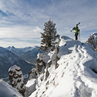 Skitour - Am Zahn über Kolbensattelhütte - am Gipfelgrat