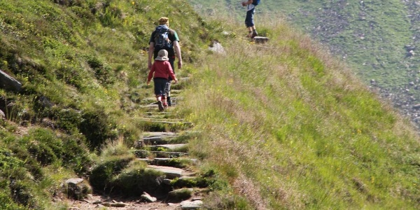 Weg am Grashang entlang