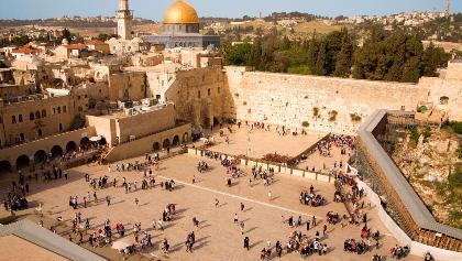 Die Klagemauer in der Altstadt von Jerusalem