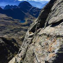 Klettersteig zwischen den beiden Gipfeln