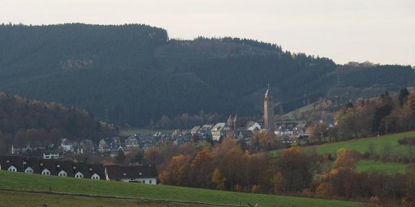Blick auf Schmallenberg im Sauerland