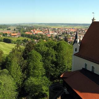 Der Ausblick vom Burgfried der Mindelburg