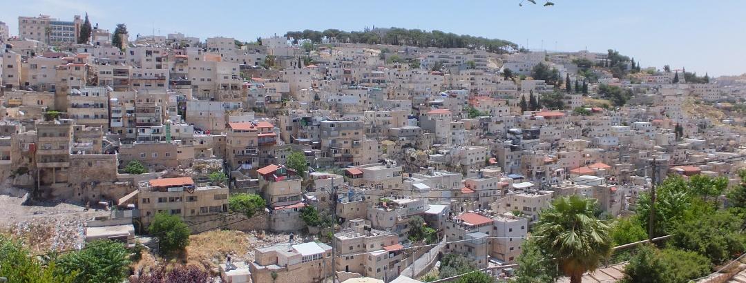 Blick von der Davidstadt auf Jerusalem