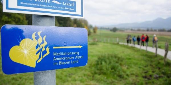 Fernwanderweg - Meditationsweg, erste Etappe - Unterwegs auf dem Meditationsweg