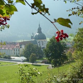 Fernwanderweg - Meditationsweg, 6. Etappe - Blick auf Kloster Ettal